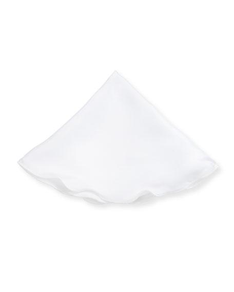 Edward Armah Solid Linen Pocket Circle, White