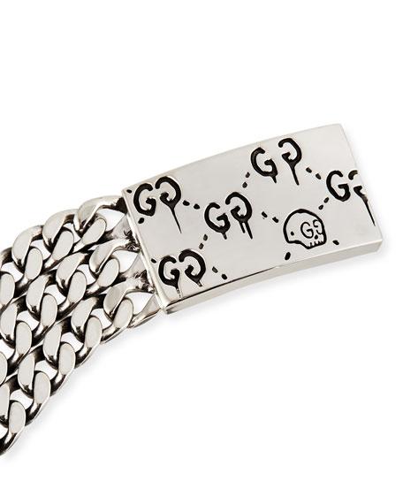 Ghost Sterling Silver Chain Bracelet