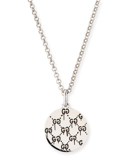 """GucciGhost Men's Sterling Silver """"Real"""" Necklace"""