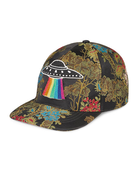 Gucci Floral Baseball Cap with UFO