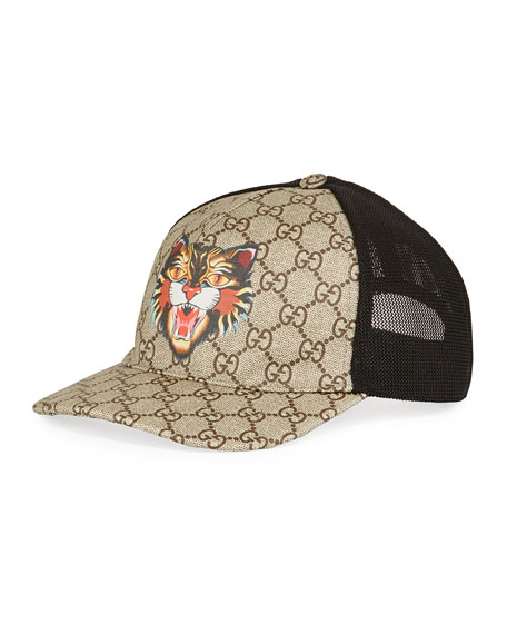 Gucci Angry Cat GG Supreme Baseball Cap