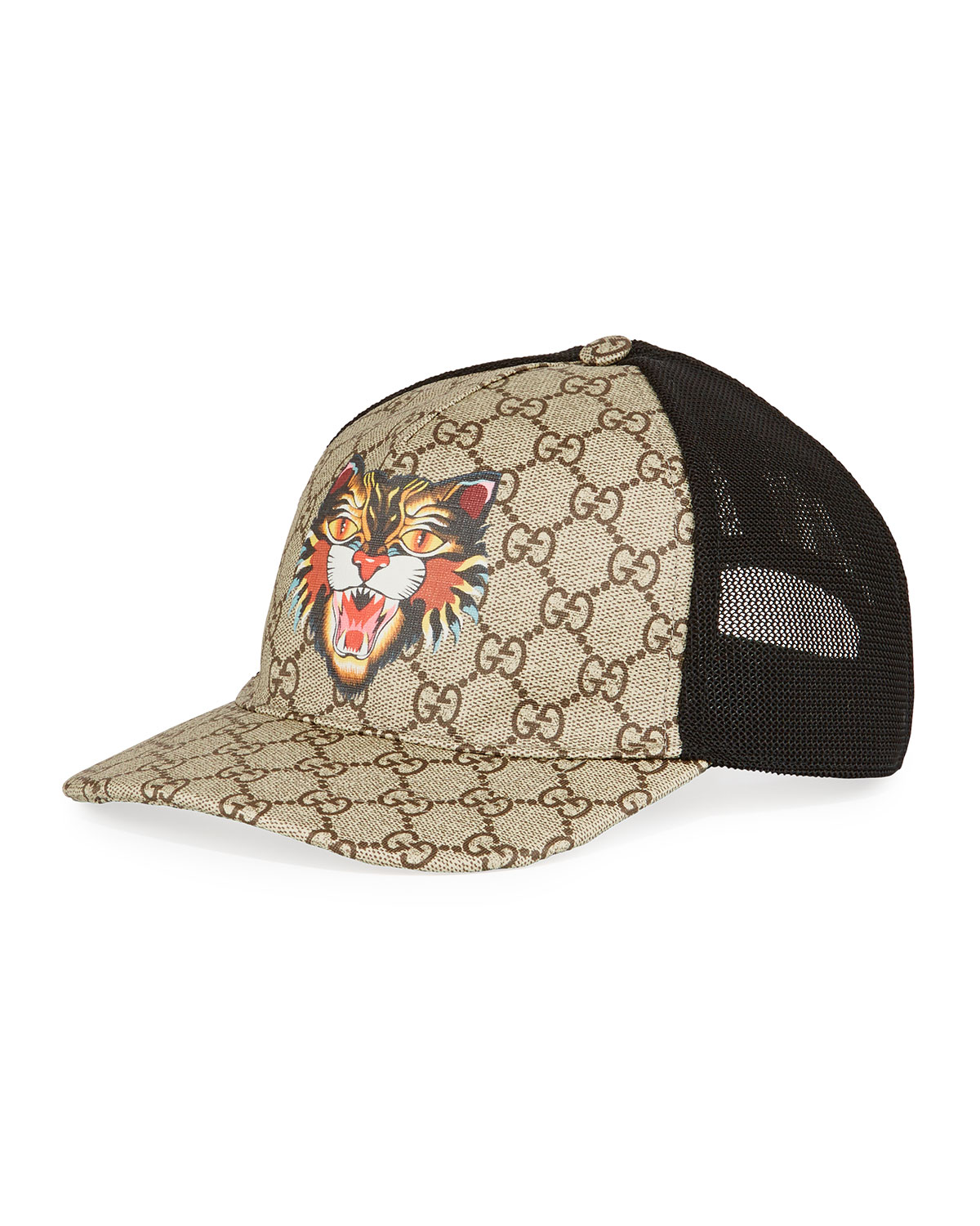766ce9250328a Gucci Angry Cat GG Supreme Baseball Cap