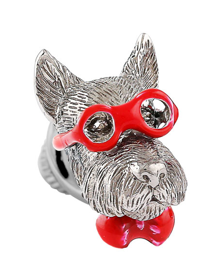 Tateossian Bookish Scottish Terrier Pin lA7h39WB