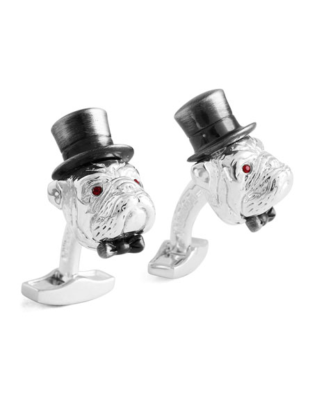 Gentleman Bulldog Cuff Links