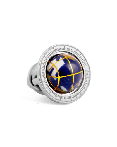 BLUE GLOBE LAPEL PIN