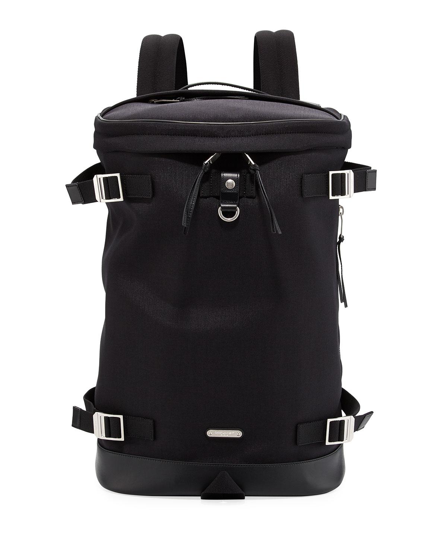 152062168bde Saint Laurent Rivington Race Canvas   Leather Backpack