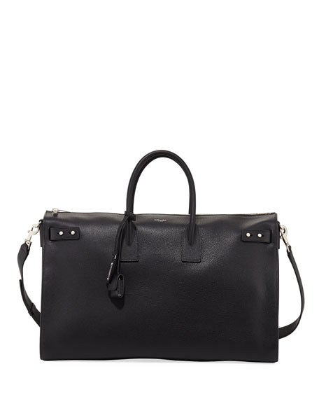 Saint Laurent 48-Hour Leather Duffel Bag