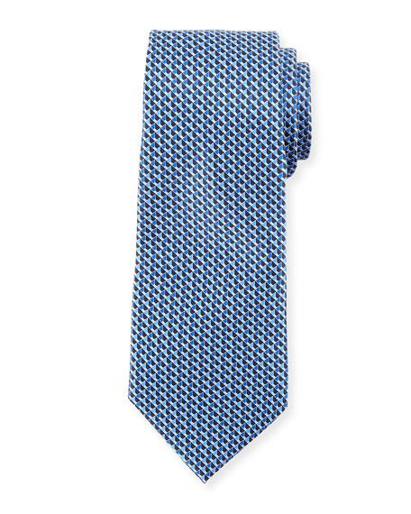 Ermenegildo Zegna Cubicles Printed Silk Tie