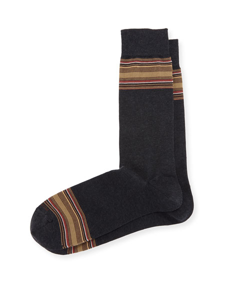 Marcoliani Limited Edition Cigar Box Crew Socks, Gray