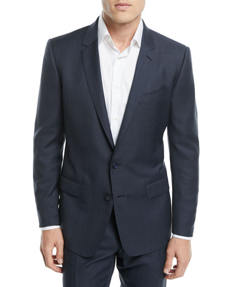 Glen Plaid Wool Two-Piece Suit