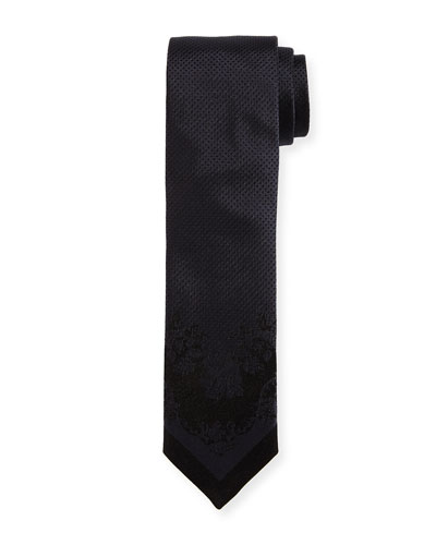 Tonal Dot-Jacquard Silk Tie