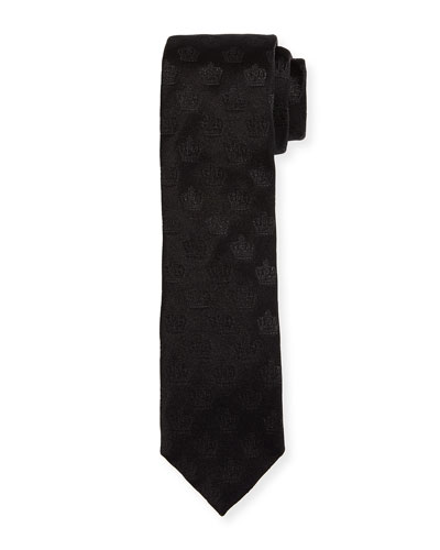 Crown Silk Jacquard Tie