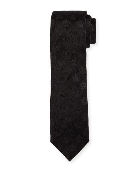 Dolce & Gabbana Crown Silk Jacquard Tie