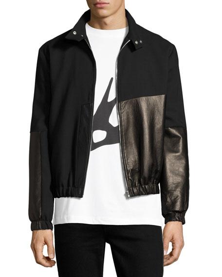 McQ Alexander McQueen Virgin Wool & Leather Bomber