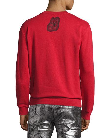Crazy Bunny Cotton Sweatshirt, Red