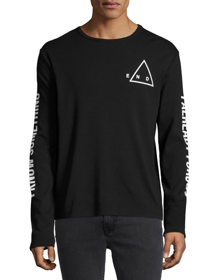 McQ Alexander McQueen The End Long-Sleeve Cotton T-Shirt,