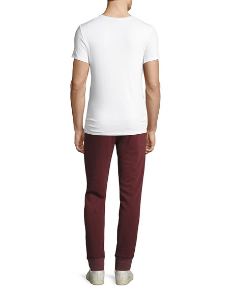 Ribbed Modal Crewneck T-Shirt