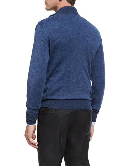 Collection Birdseye Quarter-Zip Pullover, Avio Blue