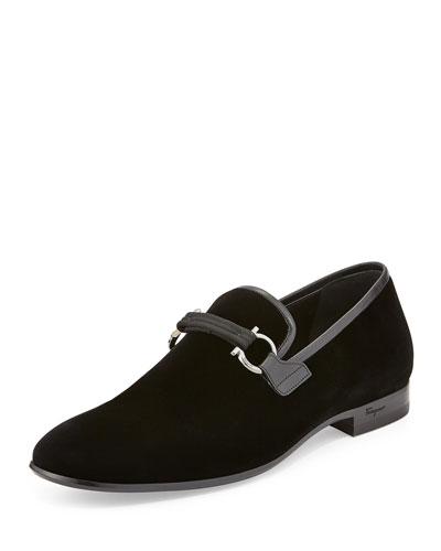 Velvet Formal Loafer, Black
