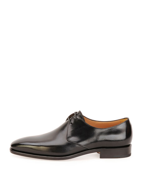 Men's Tramezza Calfskin Lace-Up Oxford, Black
