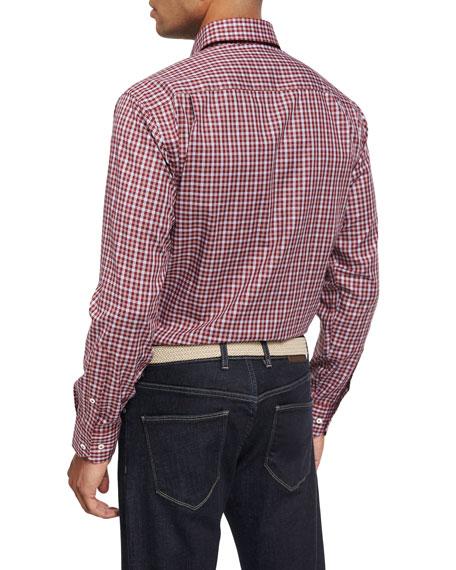 Collection Isle Check Sport Shirt, Chianti