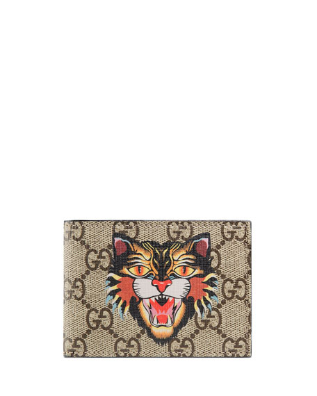 Gucci GG SUPREME ANGRY CAT WALLET