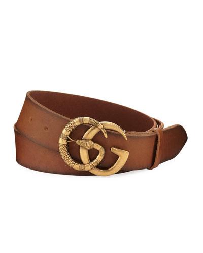 Cuoio Toscano Snake GG Belt