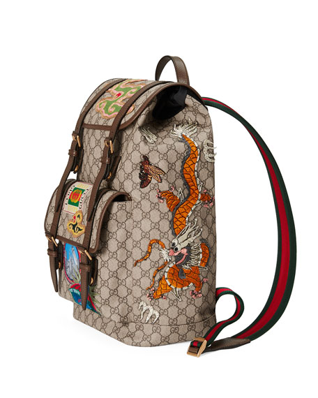 Gucci Courier Soft GG Supreme Backpack