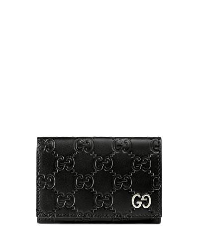 Gucci Signature Leather Card Case