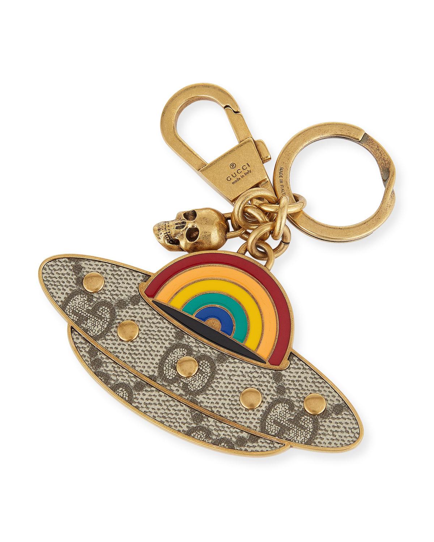 4c5bcfca0f7 Gucci UFO GG Supreme Metal Key Chain