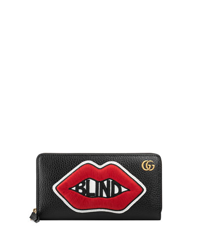Blind for Love Lips Leather Wallet