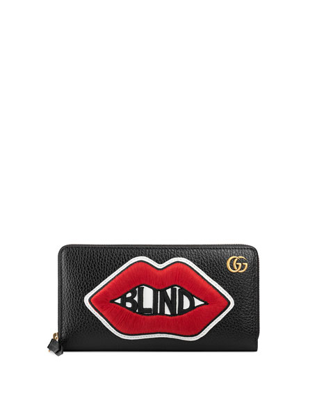 990ae4563ca Gucci Blind for Love Lips Leather Wallet
