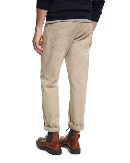 Cotton Five-Pocket Pants