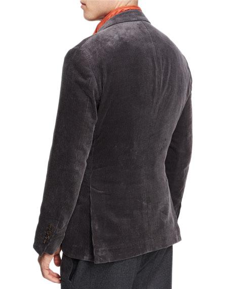 Corduroy Sport Jacket, Dark Gray