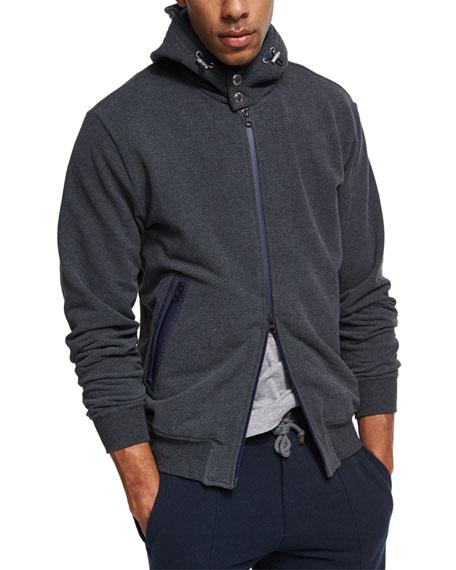 Spa Contrast Zip-Front Hoodie