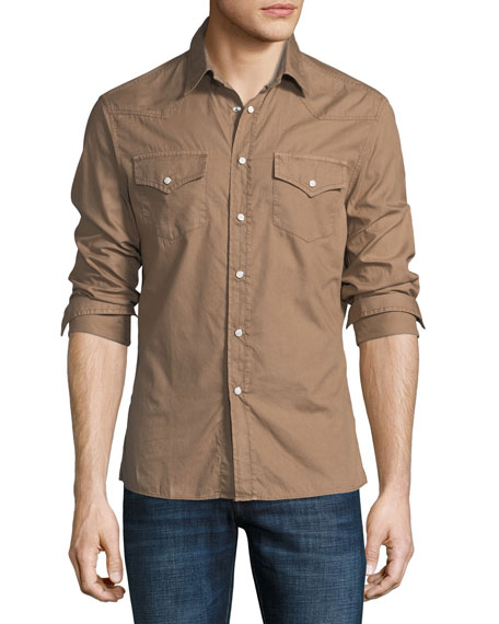 Brunello Cucinelli Leisure Fit Western Shirt