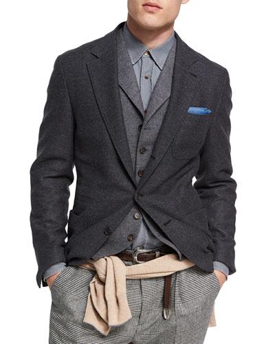 Wool-Cashmere Sport Jacket