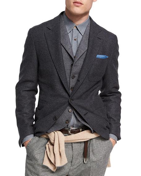 Brunello Cucinelli Wool-Cashmere Sport Jacket