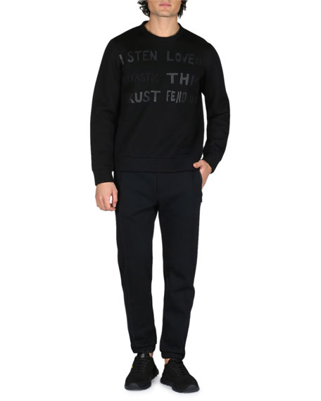 Vocabulary Cotton Sweatshirt, Black