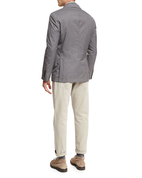 Three-Button Travel Blazer