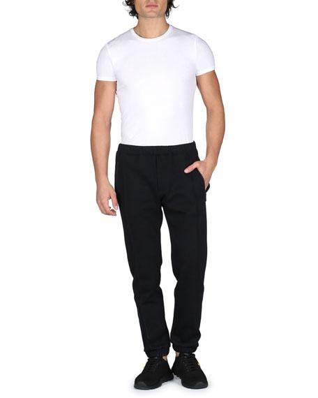 Track-Stripe Jogger Pants, Black