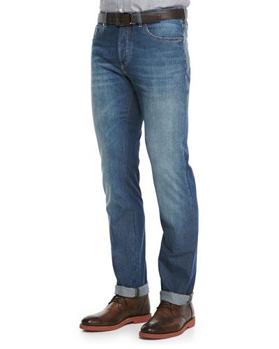 Lightweight Medium Wash Jeans, Indigo