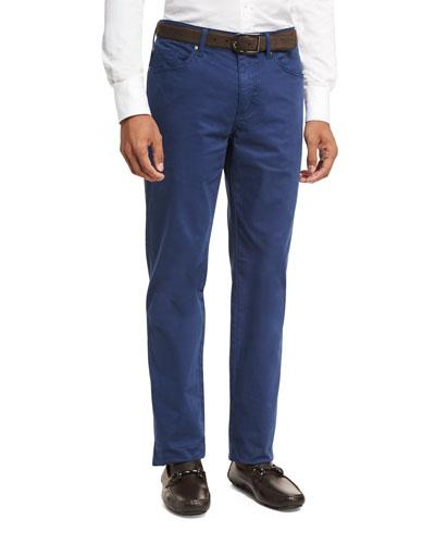 Crown Five-Pocket Stretch Sateen Pants