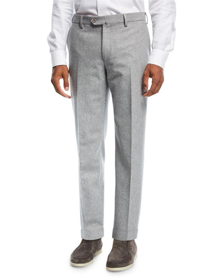 Loro Piana Four-Pocket Classic Flannel Pants