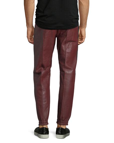 Lambskin Leather Jogger Pants