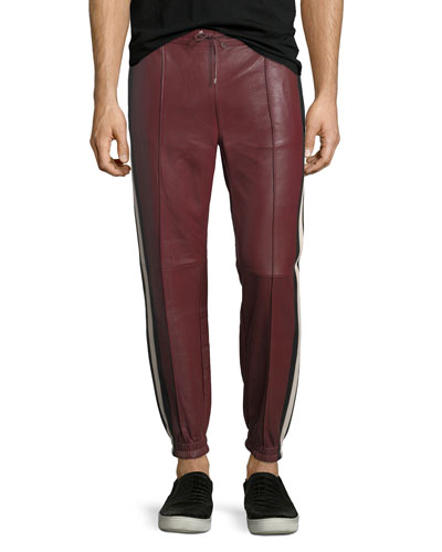 Lambskin Leather Jogger Pants