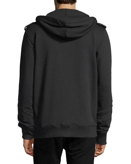 Regimental Studded Cotton Hoodie
