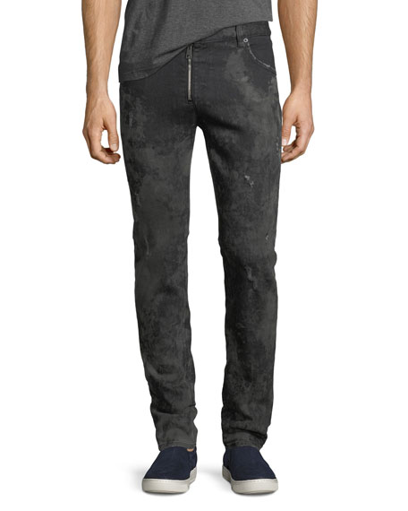 Just Cavalli Muddy Slim Denim Biker Jeans