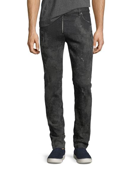 Muddy Slim Denim Biker Jeans