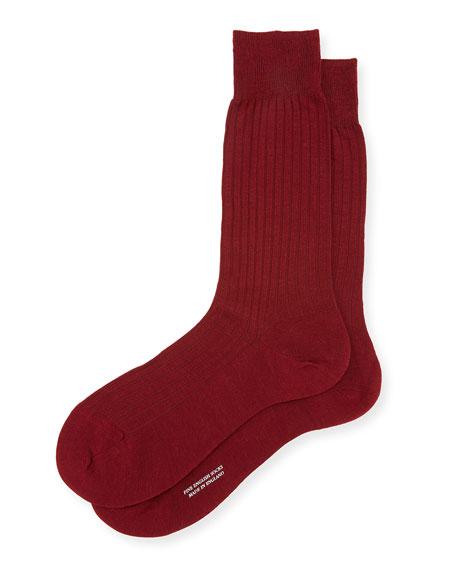 Solid Wool Half-Calf Socks